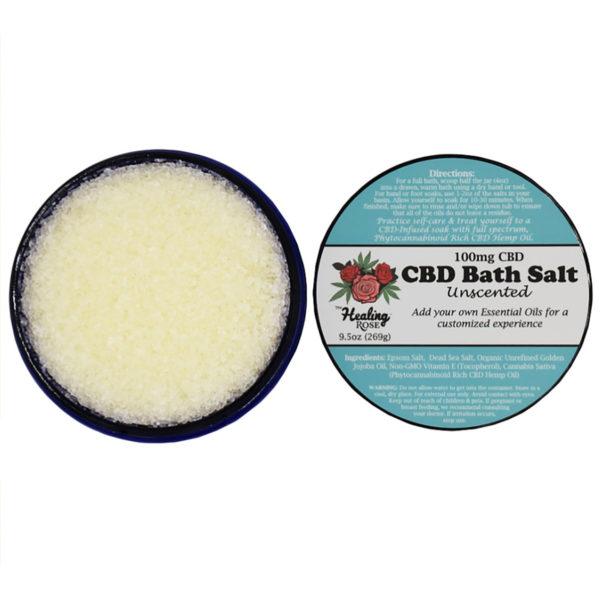 The Healing Rose CBD Bath Salt - Unscented