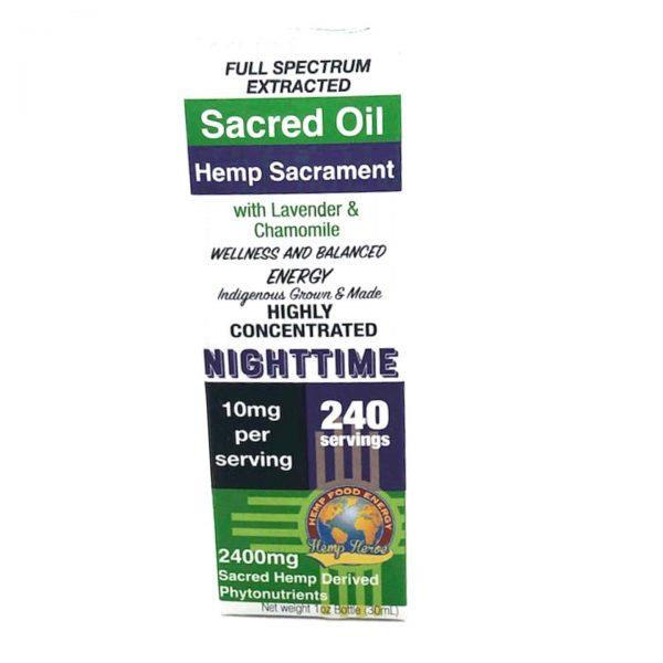 Hemp Heroe Hemp Sacrament Sacred Oil - Nighttime
