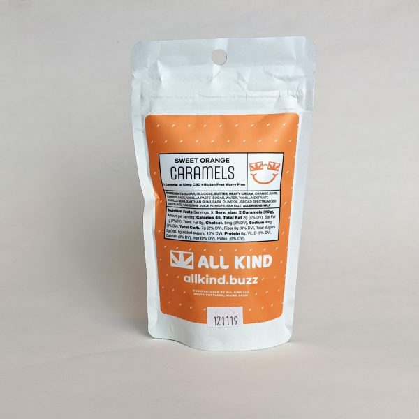 All Kind - Caramels - Sweet Orange - 100mg back