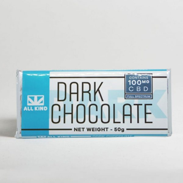 All Kind 100mg CBD Chocolate Bar-Dark Chocolate